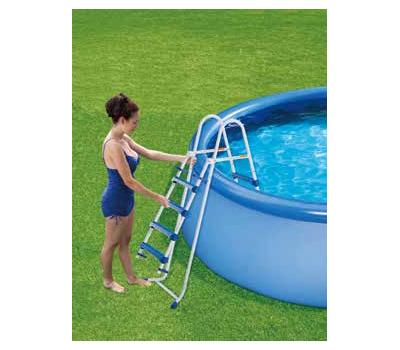 Summer Waves басейн с тръбна конструкция Elite Frame имитация на ратан кръгъл 427х107см.
