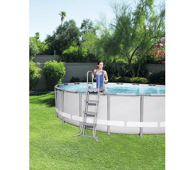 Bestway басейн с тръбна конструкция Power Steel кръгъл 427x122см.