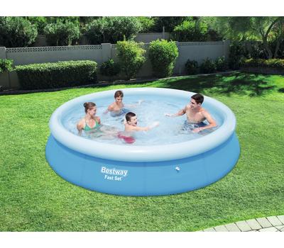 Bestway басейн с надуваем ринг Fast Set 366х76см.