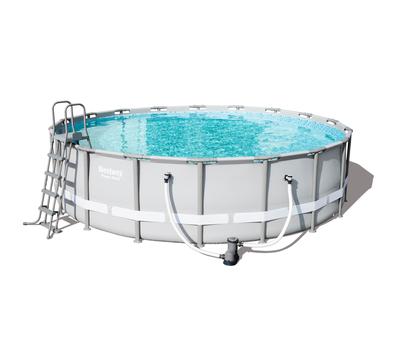 Bestway басейн с тръбна конструкция Power Steel кръгъл 549х132см.