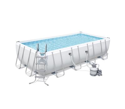 Bestway басейн с тръбна конструкция Power Steel правоъгълен 549х274х122см.
