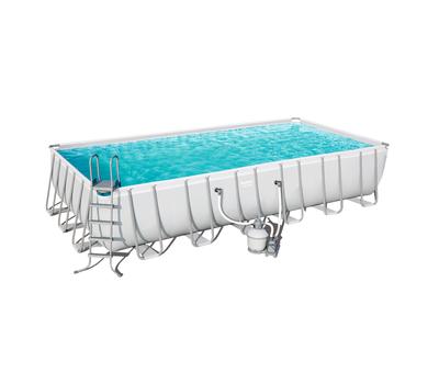 Bestway басейн с тръбна конструкция Power Steel правоъгълен 732х366х132см.