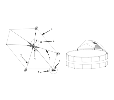 Intex Навес за кръгли басейни с тръбна конструкция