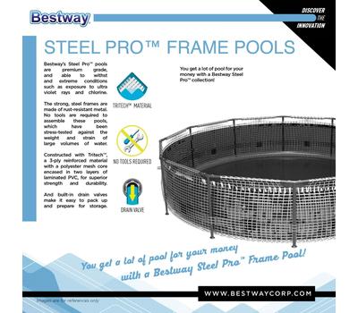 Bestway сглобяем басейн Steel Pro Frame кръгъл ф305см/76см