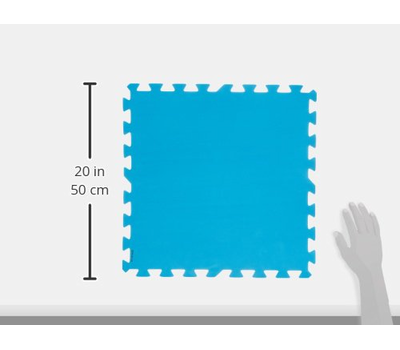 Bestway подложка мека пакет 8 броя сини