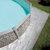 GRE Сглобяем басейн с метални стени Cerdeña имитация на камък овален 610x375x120см.