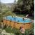 GRE Сглобяем басейн с метални стени Mauritius имитация на дърво овален 730x375x132см.