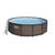Bestway басейн с тръбна конструкция Rattan Power Steel кръгъл 427x107см.