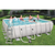 Bestway сглобяем басейн с метална рамка Power Steel  бял квадратен 488см/488см/122см